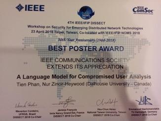 IEEE/IFIP Best Poster Award
